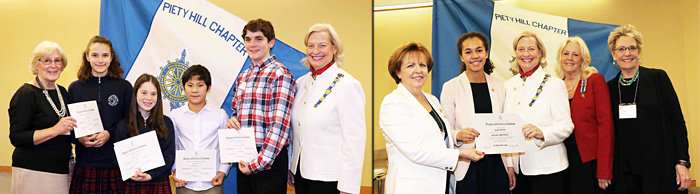 DAR Good Citizen Awards and American History Essay Contest Winners