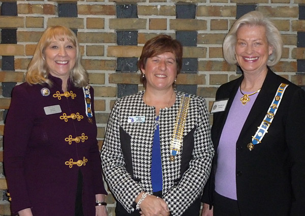 Regent Christine Richman, Sue Petres, and Barbara Suhay
